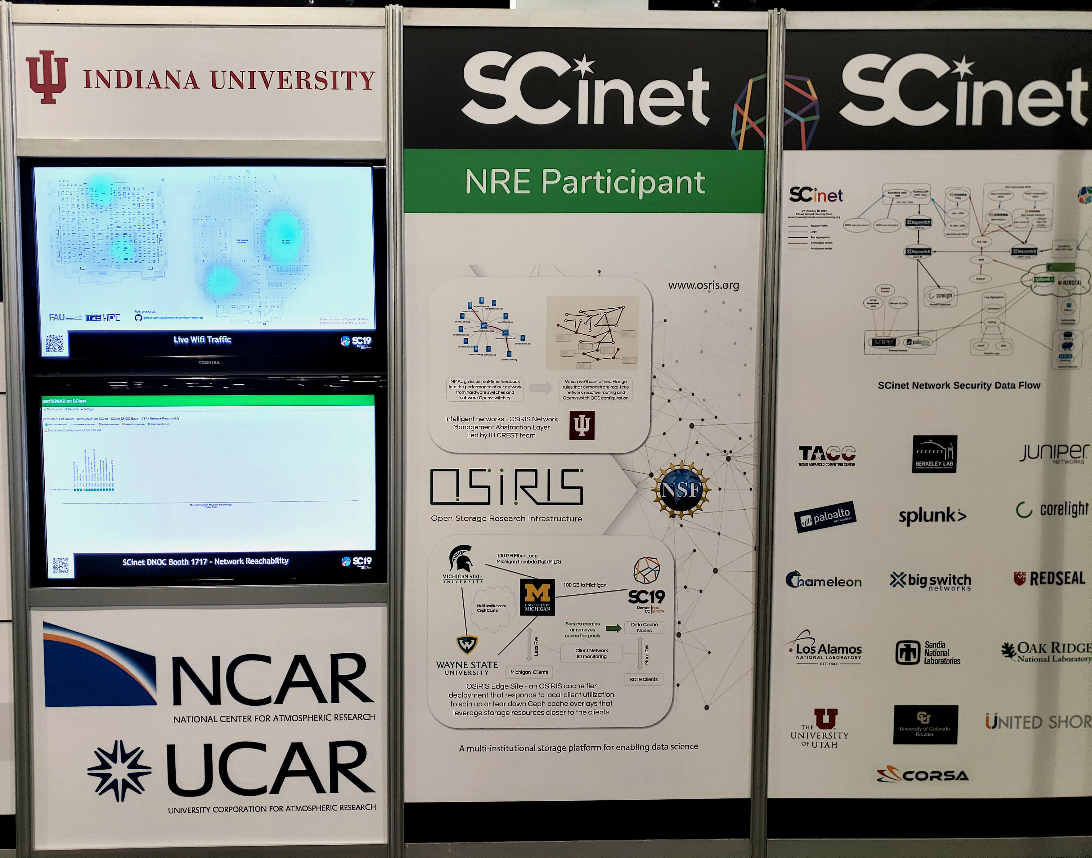 OSiRIS NRE Poster on SCINet NOC booth
